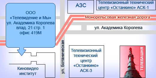 "Проезд от станции метро ""ВДНХ"""